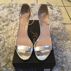 Jcrew silver heels
